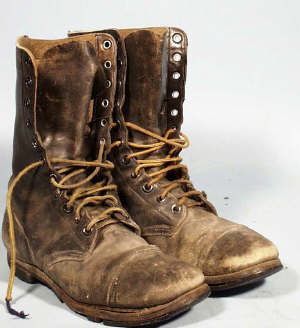 Beat Up Army Boots